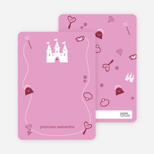 Your Princess' Birthday Invitation: Personal Stationery - Cotton Candy