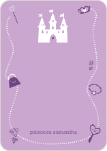 Your Princess' Birthday Invitation: Personal Stationery - Light Salmon