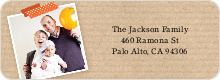 Photo Note Personalized Address Labels - Orange