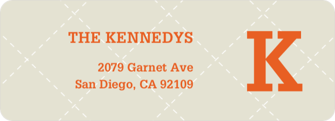 Plaid Return Address Labels - Beige