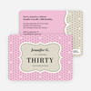 Polka Dot Themed Birthday Party Invitations - Pink