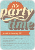 Retro Party Invitations -