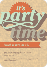 Retro Party Invitations - null