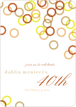 Rings Galore Party Invitations - null