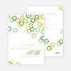 Rings Galore Party Invitations - Green
