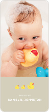 Rubber Ducky, You're the One Birth Announcements - Beige