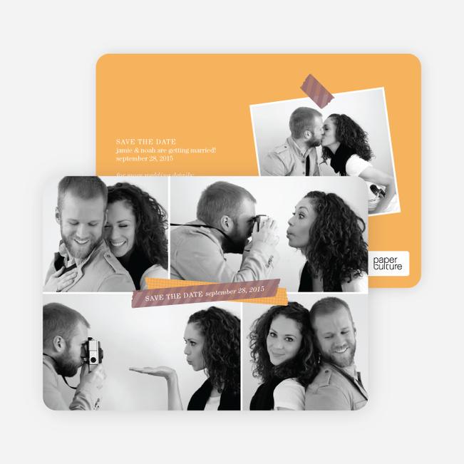 Save the Date Multi Photo Collage - Orange