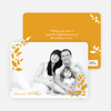Simply Leaves Holiday Photo Cards - Saffron