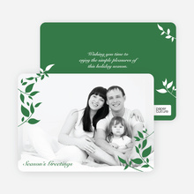 Holiday Photo Cards: Simply Leaves - Forest Green