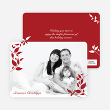 Simply Leaves Holiday Photo Cards - Crimson