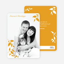 Holiday Photo Cards: Simply Leaves - Saffron