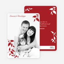 Holiday Photo Cards: Simply Leaves - Crimson