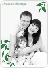 Simply Leaves Holiday Photo Cards - Forest Green