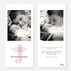 Birth Announcements: Simply Monogram - Pink