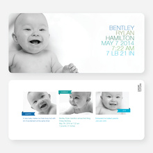 Large Birth Announcements: Simply Photos - Blue