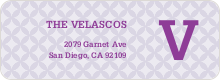 Star Pattern Address Labels - Purple