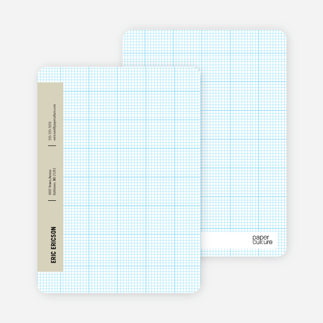 Stationery Grid Modern Note Cards - Boss Beige