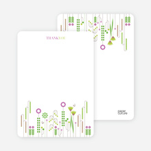 Spring Beauty Flower Shower Note Cards - Magenta
