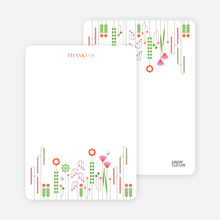 Spring Beauty Flower Shower Note Cards - Persimmon Orange