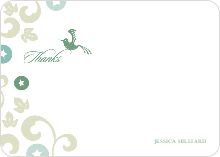 Morning Glory Wedding Shower Invites: Thank You Cards - Bamboo