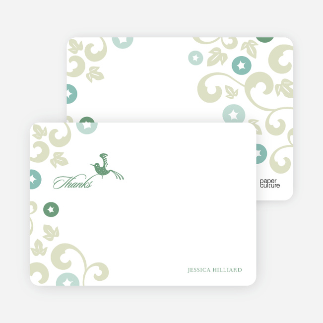 Thank You Card for Morning Glory Wedding Shower Invitations - Bamboo