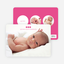 Triple Threat Birth Announcements - Pink