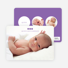 Triple Threat Birth Announcements - Purple