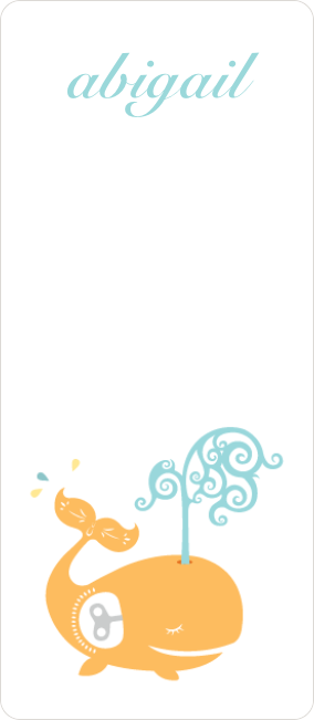 Whale Spout Gift Tag Stickers - Yellow