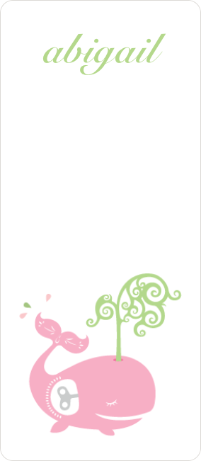 Whale Spout Gift Tag Stickers - Pink