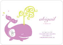 Whale Spout Modern Birthday Invitation - Lilac