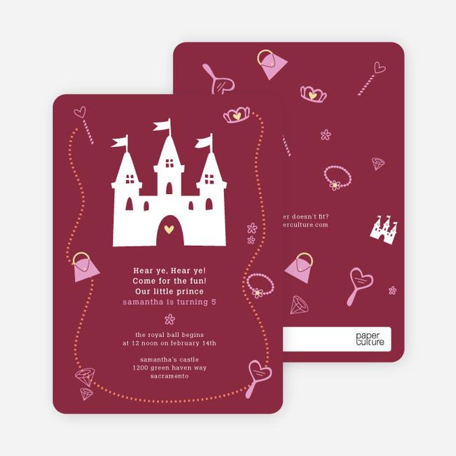 Your Princess' Birthday Invitation - Maroon