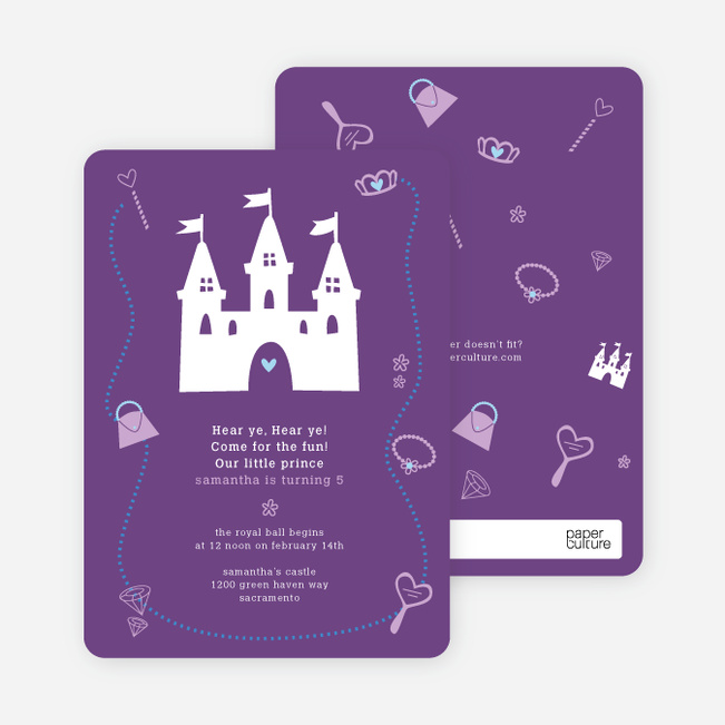 Your Princess' Birthday Invitation - Purple Brown