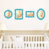 Antique Photo Frame Wall Decals - Blue