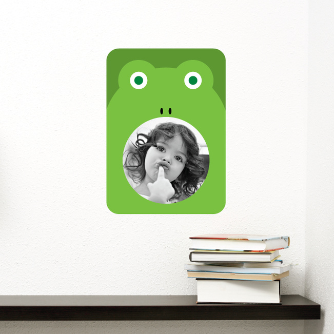 Frog Photo Frame Stickers - Green