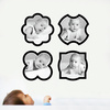 Fun, Modern Picture Frame Wall Decals - Black