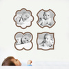 Fun, Modern Picture Frame Wall Decals - Brown