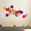 Honeycomb Photo Wall Decals - Red