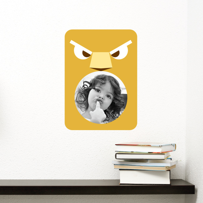 Lion Photo Frame Stickers - Yellow