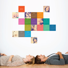 Color Calendar Wall Decal - Multi