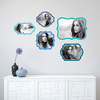 Retro Bracket Frames - Wall Decal View