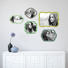 Retro Bracket Frames - Green