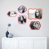 Retro Bracket Photo Frames - Pink