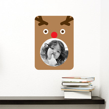 Rudolph Photo Frame Sticker - Brown