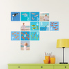 Sea World Numbers and Photos: Wall Decals - Blue