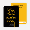 Adult Scary Script Halloween Party Invitations - Yellow