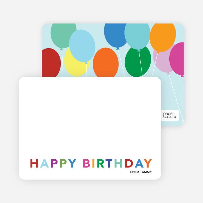 Balloon Birthday Party Invitations - Blue