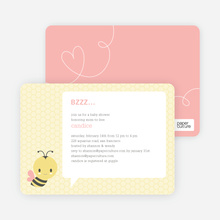 Bumble Bee Themed Baby Shower Invitations - Pink