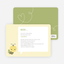 Bumble Bee Themed Baby Shower Invitations - Green