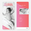 Bold and Modern Birth Announcements - Pink