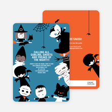 Costume Party Halloween Invites - Azure